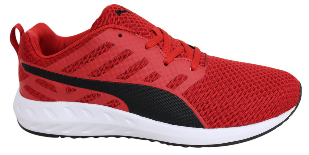 brand new 77415 c2505 Puma Mens Mesh Flare Red Lace Up Trainers