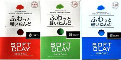 Daiso Soft Clay ( red , green , blue ) for Slime