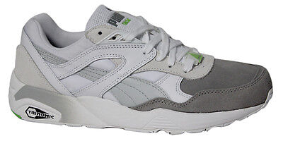 Puma Trinomic R698 Blocked Mens Trainers Lace Up Shoes Grey White 359288 02 B33D