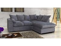 🚚🚛*Fast Delivery🚚🚛Brand New Dylan JUMBO CORD Fabric 3 and 2 or Corner Sofa in Black Grey Brown