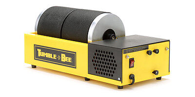 Tumble-Bee Rotary Rock Tumbler | Polish Rocks Glass Metals | Model TB-22, 2X2LB