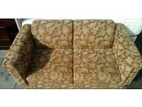 Floral fabric sofa bed
