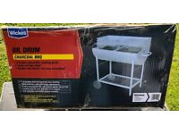 Wickes Oil Drum Charcoal BBQ (2 available)