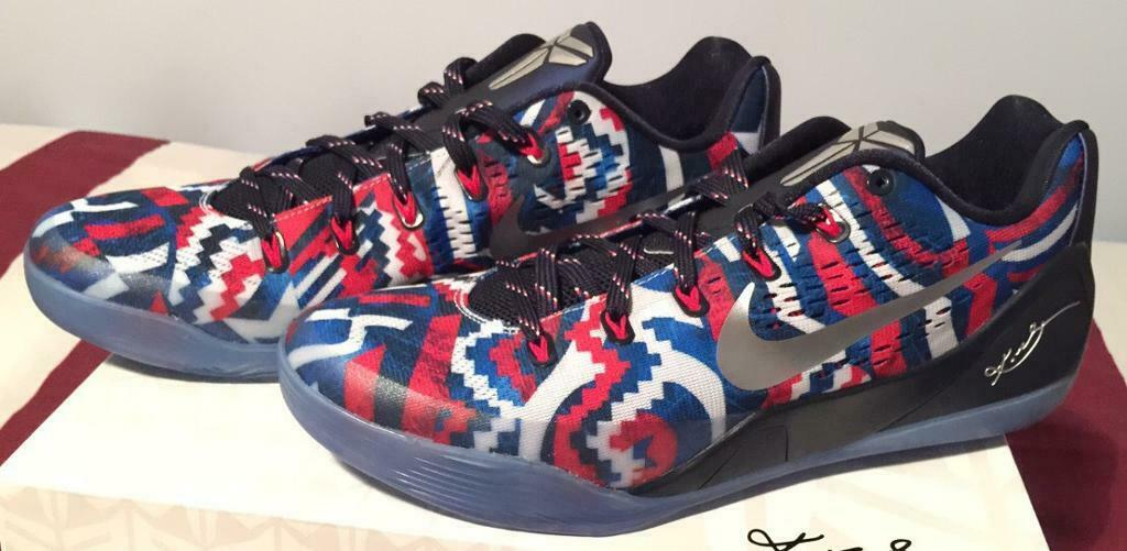 the best attitude a54b5 92573 Nike Air Kobe IX EM 9 July 4th USA Independence Day Sneakers