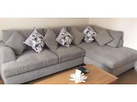 Excellent condition Next corner sofa in dove grey
