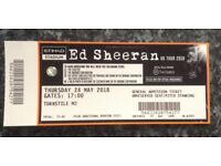 Ed Sheeran @ Etihad Stadium Manchester. Thursday 24-5-18 Gates open 5pm