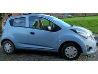 Bargain and economic Light Blue Chevrolet Spark 2012