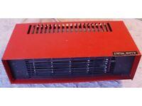 ELECTRIC FAN HEATER An electric FAN HEATER, 2000 WATT, 2 Heat Settings, Small and Compact