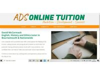Expert online English and History tuition by an experienced and popular tutor.