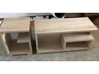 Oak Style Coffee Table & Side Table
