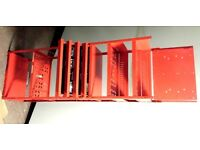 Red Metal Garage Vehicle/Car Parts Tools Display Stand Shelving with Drawers