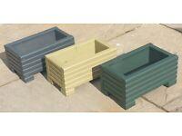 Coloured long Wooden Decking Planter/Window Box/Trough/Garden/Herb/Flower 26 colours