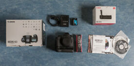 Canon 6D + Battery Grip + Charger + One battery LPE6 + box and instructions