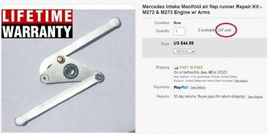 Mercedes Intake Manifold air flap runner Repair Kit - M272 & M273 Engine w/ Arms