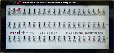 NIB RED CHERRY Flare Extra Short Individual Lash False Eyelashes Fake Eye - Red Fake Eyelashes