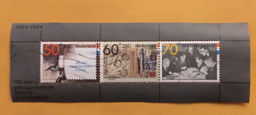Netherlands. 100 Years Of Organized Philately SS.. SC B606a. Used. 1984. - $2.25
