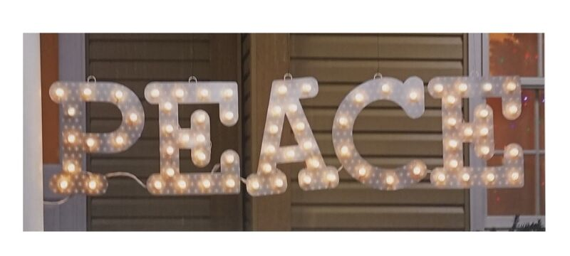 Celebrations 12inch PEACE Marquee Sign Indoor/Outdoor
