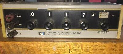Hewlett Packard 4440b Decade Capacitor 40pf1.2f