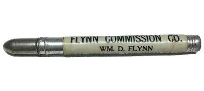 Vtg Flynn Commission Co Bullet Pencil WM D Cattle Hogs Sheep Livestock Sales