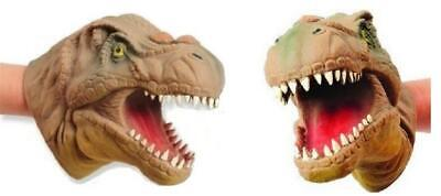 THRILLING T-Rex Dinosaur Hand Puppet (2 Pack) Stretchy SOFT Dino Party Creature - Dinosaur Hands