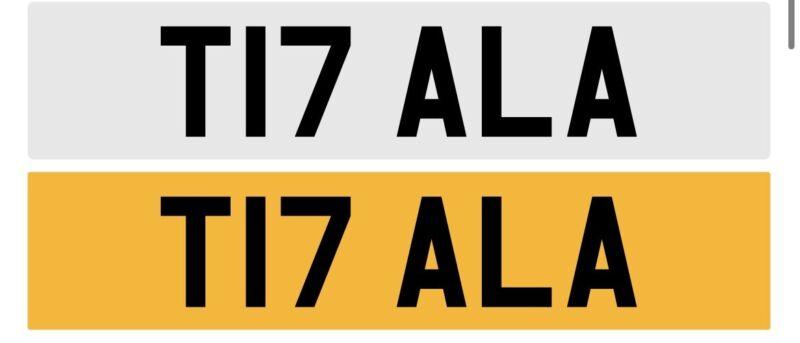 T17+ALA+Private+Registraion+Plates