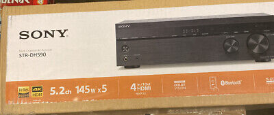 New Sony STR-DH590 4 HDMI Input 5.2-Channel Home Theater AV Bluetooth Receiver