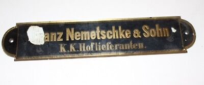 Antique Shield Klavierbauer Piano Klavierfranz Nemetschke Son K. K. Court