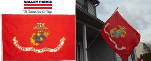us marine corps flag nylon 3x5ft canvas