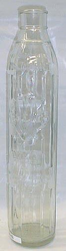Shell Embossed Imperial Quart Glass Oil Bottle