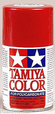 Tamiya Spray Metallic Red RC Car Paint for Polycarbonate Bod