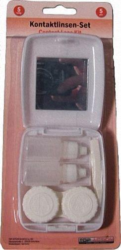 Kontaktlinsenset Kontaktlinsen Set Behälter Etui mit Spiegel NEU