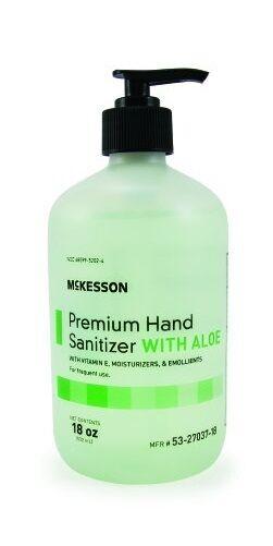 Premium Hand Sanitizer with Aloe, 18 oz. Gel Pump Bottle, Mc