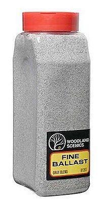 Woodland Scenics Ballast * 1393 GRAY BLEND FINE * 32 oz - NIB