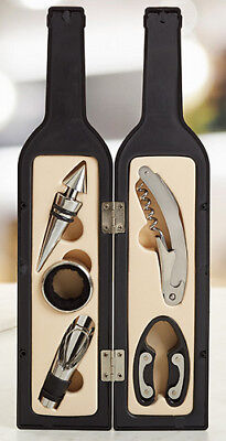 Wine Bottle - Wine Accessory 5 piece Kit