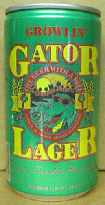 Growlin Gator Beer Can With Alligator  Auburndale Florida  Grade 1 1