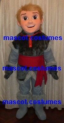 New Special kristoff frozen Mascot Costume anna elsa olaf figure ice Character.