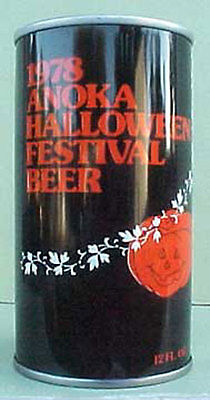 Halloween Ulm (1978 ANOKA HALLOWEEN FESTIVAL BEER Can Schell Brewing, New Ulm, MINNESOTA)