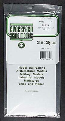 Evergreen Plain Sheet .040x6x12  (2) 9040