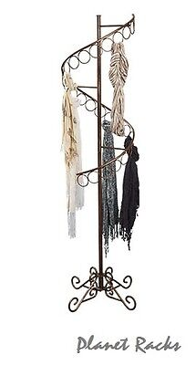 Planet Racks Spiral Clothing Scarf Display - Cobblestone