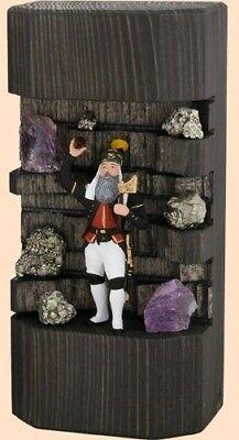 Minibergwerk Steiger in Holz, bunt HxBxT ca. 18 x 16,5 x 4,5cm NEU Zinnfiguren