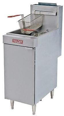 Vulcan Lg400 45-50 Lb. Freestanding Economy Gas Fryer - Millivolt