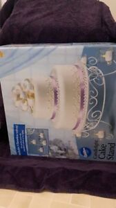 Opened but not used Wilton Candlelight Cake Stand - White.
