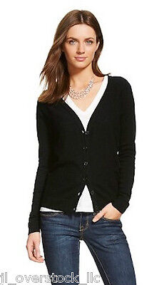 - Merona Women's Favorite Knit Textured Cardigan Sweater - Ebony (Black) - NEW NWT