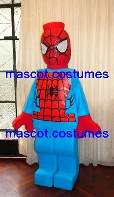 New Special spiderman heroe Mascot Costume lego figure (Lego Spiderman Kostüm)