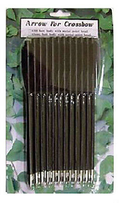 12 FRECCE cm 16 in BLISTER per PISTOLA BALESTRA Accessori Dardo Freccia Dardi