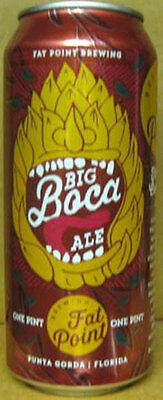 For sale BIG BOCA ALE 16oz Beer CAN with HOP, Fat Point Brewing, Punta Gorda, FLORIDA, 1+