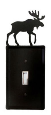 Moose Single Switch Plate Cover Wrought Iron Rustic Cabin Lodge Decor Decoration Moose Single Switchplate