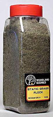 NEW Woodland Scenics Static Grass Flock Medium Green 32 oz FL635