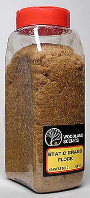 NEW Woodland Scenics Static Grass Flock Harvest Gold 32 oz FL632