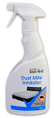 Problem Solved Bed Dust Mite Inhibitor Spray 500ml Protects Against Infestations